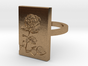 Rose Ring 3 in Natural Brass