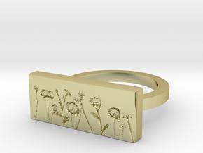 Flower Ring 2 in 18k Gold