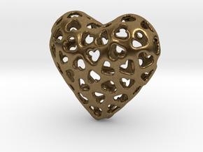 Small hearts, Big love (from $15) in Natural Bronze: Medium
