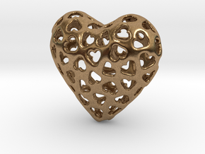 Small hearts, Big love (from $15) in Natural Brass: Medium