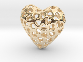 Small hearts, Big love (from $15) in 14K Yellow Gold: Medium
