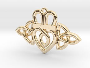 Claddagh Triquetra Pendant in 14K Yellow Gold