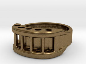 US9 Ring X: Tritium in Natural Bronze
