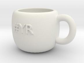 #YR Mug in White Natural Versatile Plastic