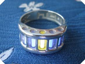 US9 Ring X: Tritium in Polished Silver