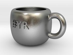 #YR Mug in Natural Silver