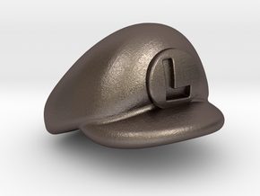 L-Plumber Cap in Polished Bronzed Silver Steel