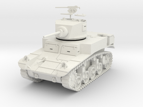 PV31B M3A1 Stuart (28mm w/separate hatches) in White Natural Versatile Plastic