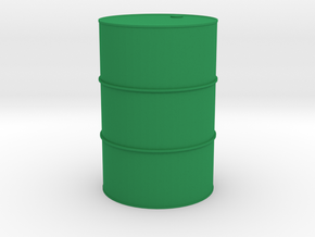Oil drum 1/32 in Green Processed Versatile Plastic