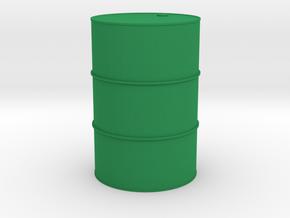 Oil drum 1/32 in Green Processed Versatile Plastic