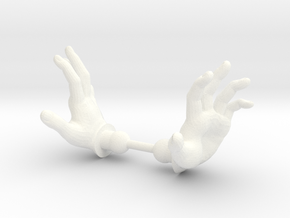 Warrior Hands Spell in White Processed Versatile Plastic