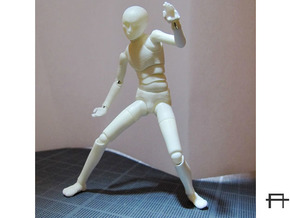 1/20 scale ALPHA EGO BJD kit, Male V02 in Smooth Fine Detail Plastic
