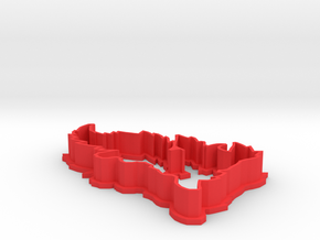 Flareon Cookie Cutter in Red Processed Versatile Plastic