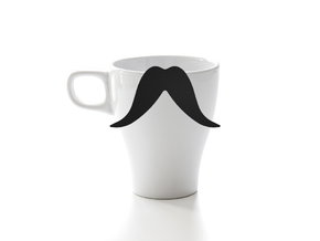Mug & glass accessories Mustache 8 in Black Strong & Flexible