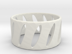 Ring1 in White Natural Versatile Plastic