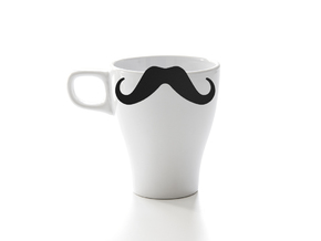 Mug & glass accessories Mustache 4 in Black Strong & Flexible