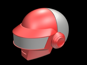 Daft Punk Thomas Helmet _Part 1 of 2 in White Natural Versatile Plastic