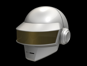 Daft Punk Thomas Helmet _Part 2 of 2 in White Natural Versatile Plastic