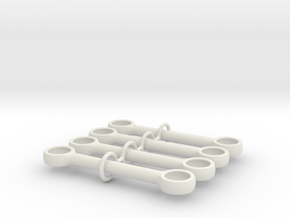 5m Pushrod in White Natural Versatile Plastic