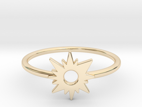 Sun Midi Ring in 14K Yellow Gold