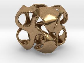 Cuboid pinwheel pendant in Natural Brass