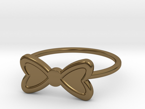 Midi Bow Ring, subtle and chic by titbit in Polished Bronze