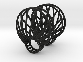 parameters | clamshell ring 2 in Black Natural Versatile Plastic