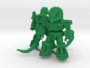 MiniCreatures: Rampager Rex Vs Titantic Triceratop in Green Processed Versatile Plastic