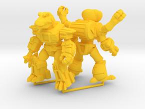 MiniCreatures: Atomic Allosaur Vs Fetid Fly in Yellow Processed Versatile Plastic