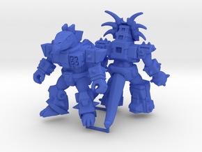 MiniCreatures: S.H Stegosaur Vs Stalwart Styracosa in Blue Processed Versatile Plastic