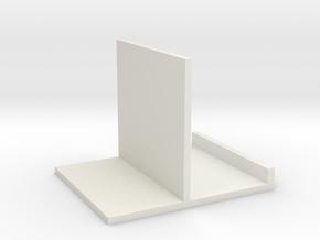 Stand, Medium White plain in White Natural Versatile Plastic