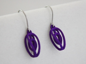 Miniature Aerial Earrings in Purple Strong & Flexible Polished