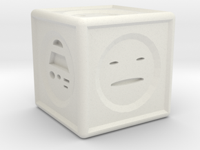 Mood Dice  in White Natural Versatile Plastic