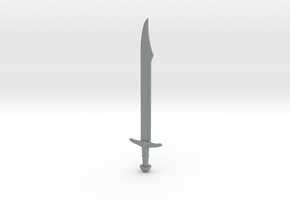 Falchion Sword in Polished Metallic Plastic