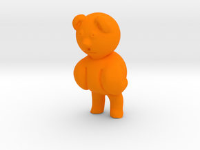 Bear in Orange Processed Versatile Plastic