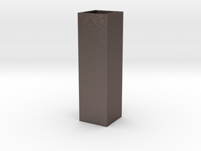 Tower Vase Tall 1:12 scale in Polished Bronzed Silver Steel