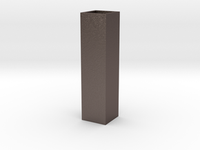 Tower Vase Thin 1:12 scale in Polished Bronzed Silver Steel