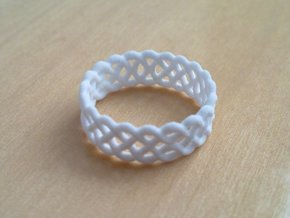Celtic Ring - 16mm ⌀ in White Natural Versatile Plastic