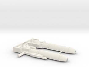 Wideside Gun in White Natural Versatile Plastic
