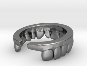 Upper Ring in Fine Detail Polished Silver