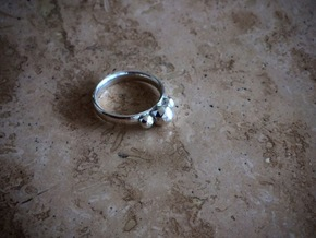 GeoJewel Ring UK Size R US Size 8 5/8 in Polished Silver