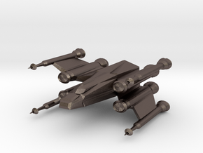 Space Fighter in Polished Bronzed Silver Steel