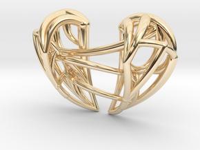 Healing Heart Pendant in 14K Yellow Gold