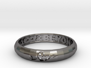 Word Ring in Polished Nickel Steel
