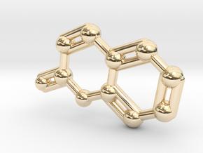 Coumarin Molecule Keychain Pendant in 14K Yellow Gold