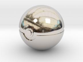 Pokeball 4cm in diameter. in Platinum