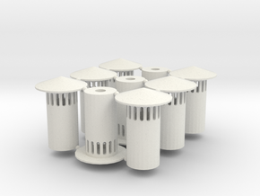 N Scale Vent Stack (1:160) in White Strong & Flexible