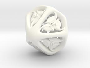 Tengwar Elvish D10 (Numbered 0-9) in White Processed Versatile Plastic