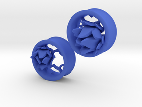 1 Inch Lattice Flower Tunnels in Blue Processed Versatile Plastic