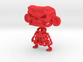 3inch MAD skeleton in Red Processed Versatile Plastic